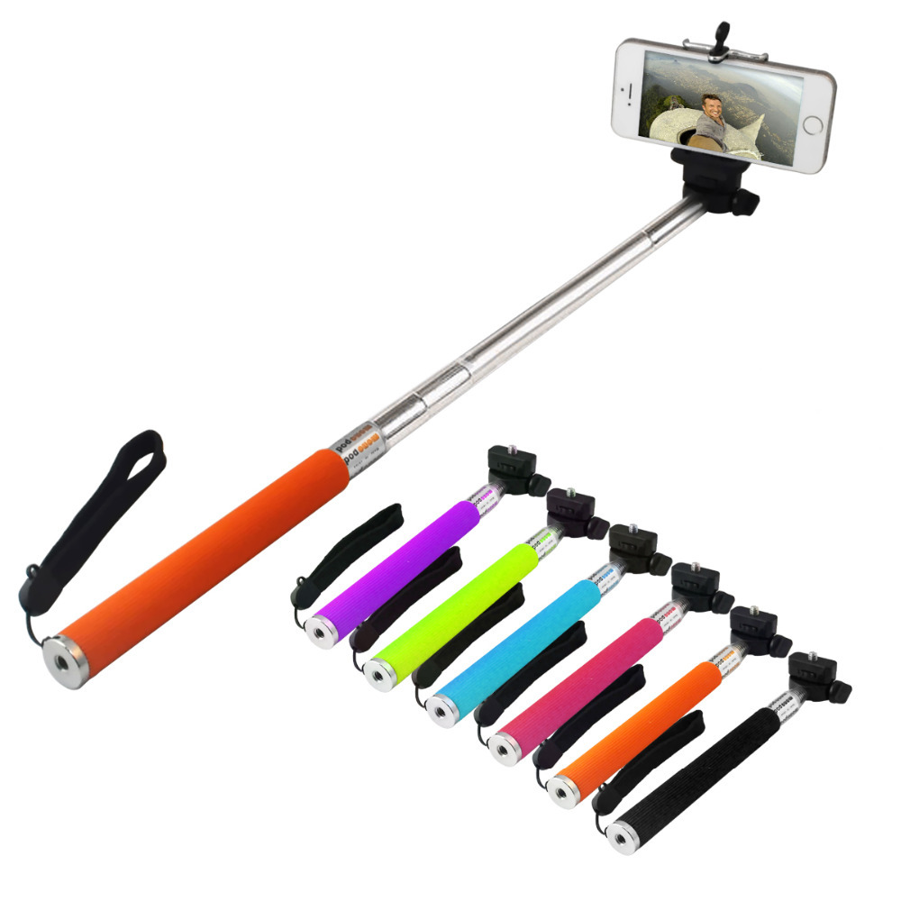 Extendable-Self-Portrait-Selfie-Handheld-Stick-Monopod-font-b-Tripod-b-font-With-cellphone-Adjustable-Clip